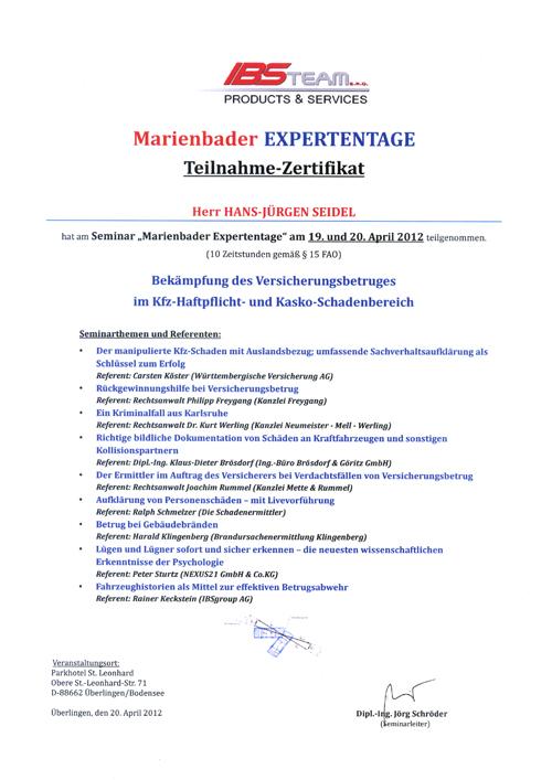 Zertifikat IBS